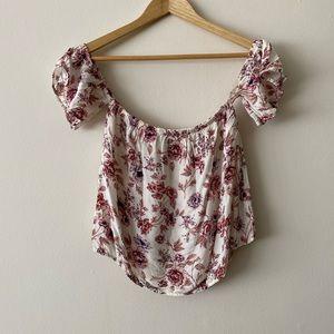 AEO off shoulder floral top